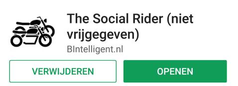 TheSocialRider App beschikbaar voor Beta Testers!