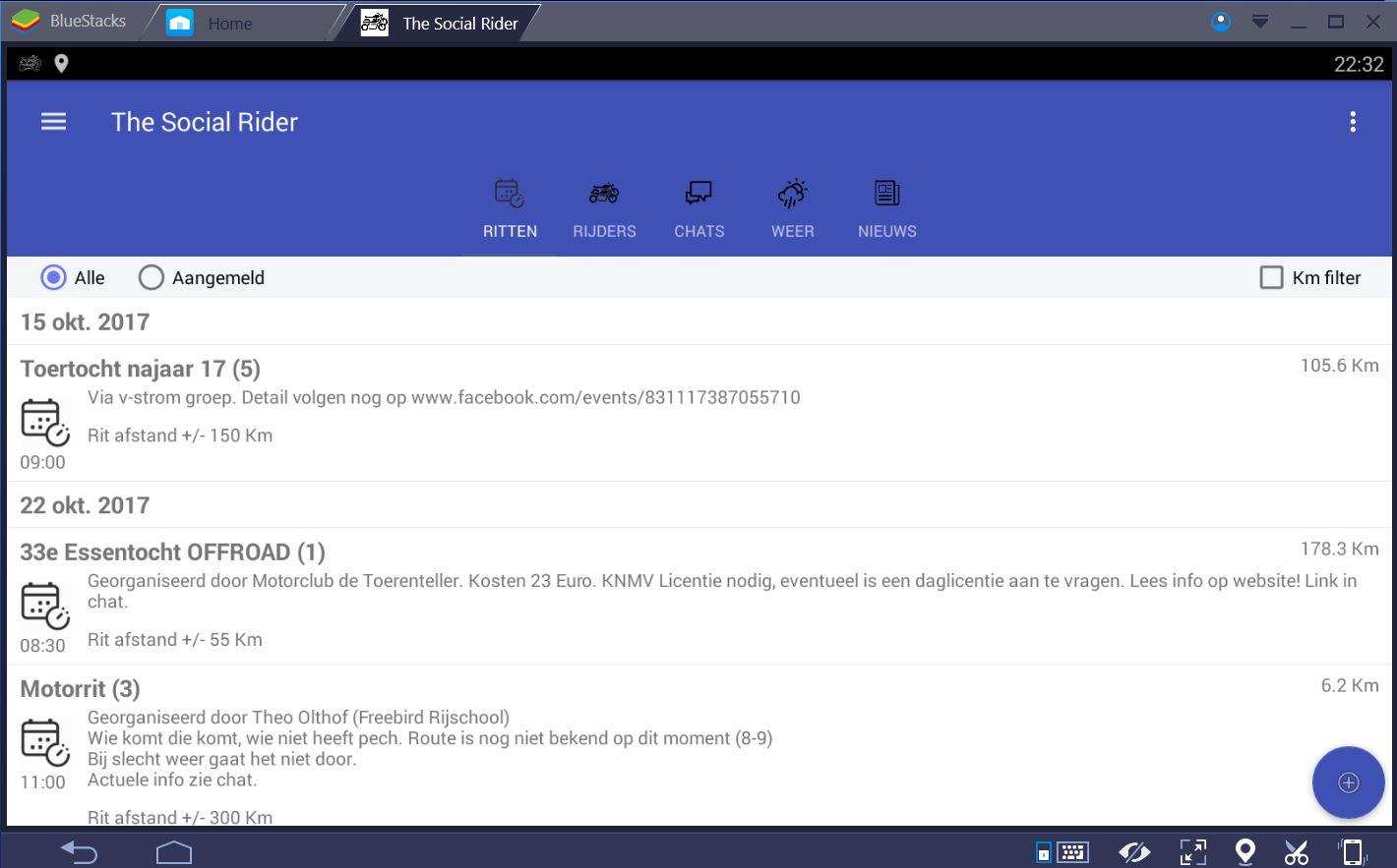 TheSocialRider voor iPhone / IOS en Windows (Phone) gebruikers..